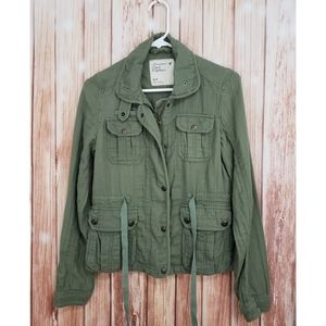 American eagle Olive Green Utility Jacket Cargo SP